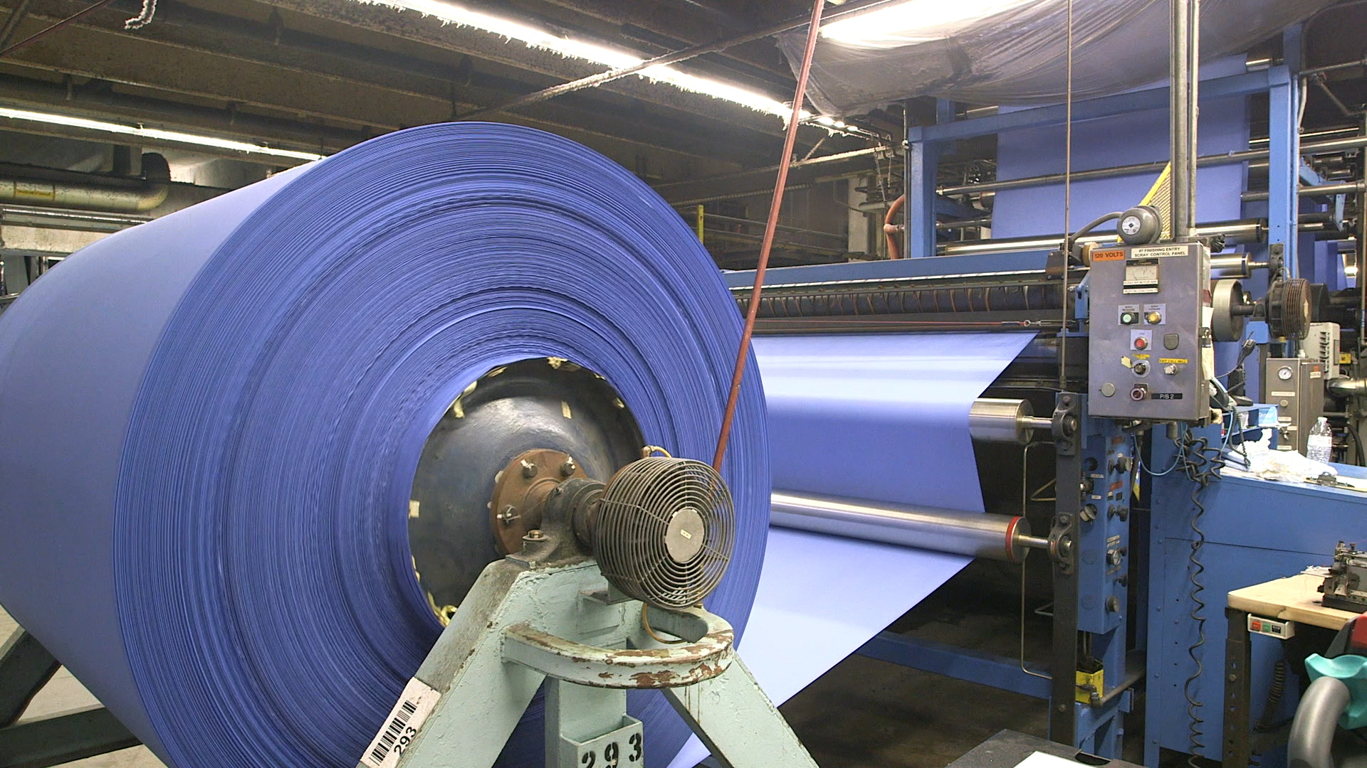 Production of Milliken's BioSmart fabric.